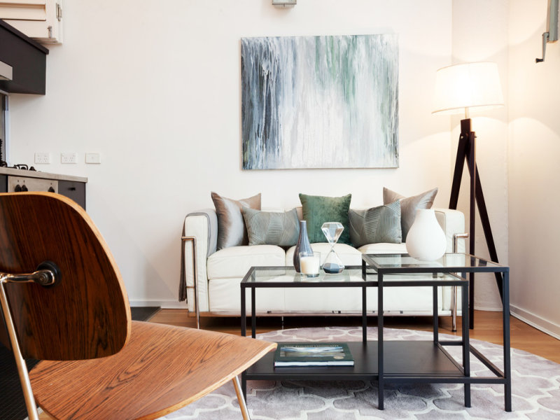 The living space at 15-19 Boundary Street Rushcutters Bay