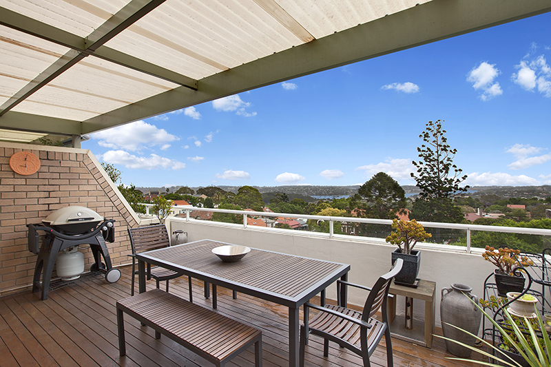 Outlook towards the Blue Mountains from the Berry Street apartment